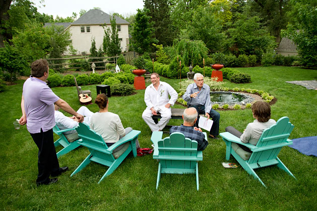 Cholle-Ugur-Gulcer-Wedding-Columbus-Ohio-Guests-Talking-Outside