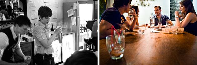 Mouton-Bar-Columbus-Ohio-Nylon-cocktail-shaker-mixologist-people-table-laughing-drinks-glasses