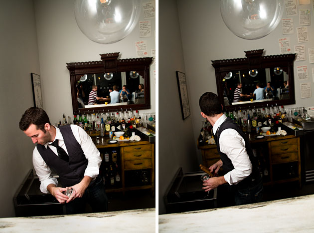 Mouton-Bar-Columbus-Nylon-bartender-working-behind-bar-glasses