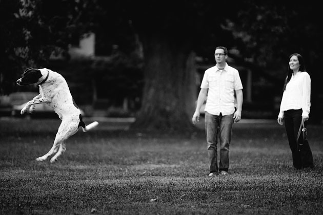 Columbus-Schiller-Park-Engagement-Session-Dog