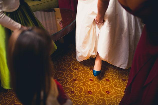 Brides-Something-Blue-Shoes-Marriot-Cleveland-Ohio