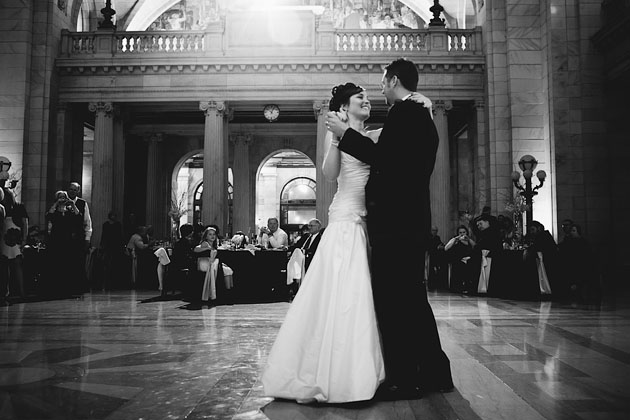 Bride-Groom-First-Dance-Old-Courthouse-Cleveland-Ohio