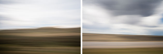 Motion blurred landscapes