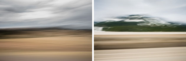 Motion blurred landscape
