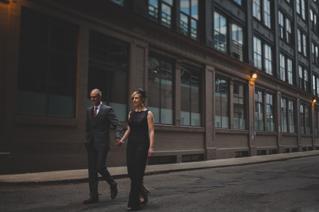 Bride-and-Groom-Walking-Through-Downtown-Columbus-Ohio