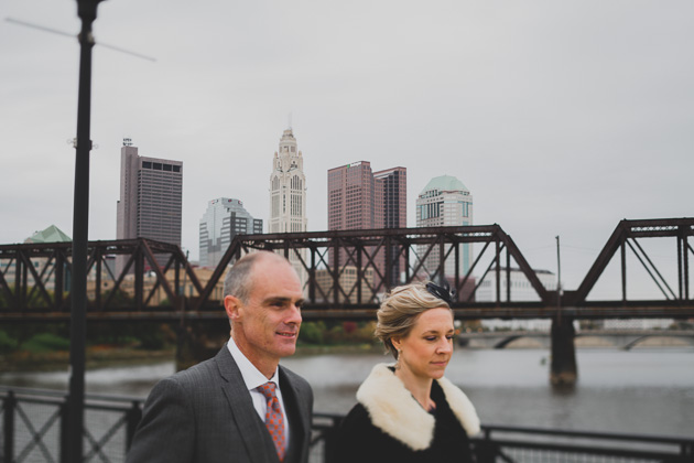 Bride-and-Groom-walking-through-North-Bank-Park-Columbus-Wedding