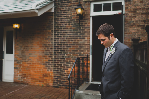 Groom-waiting-for-ceremony-The-Kelton-House-Columbus