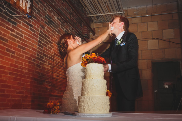 Bride-Groom-Cutting-The-Cake-400-West-Rich-St-Wedding-Columbus-Ohio