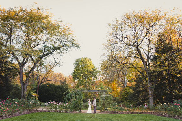 Kris And Aaron Shear At The Whetstone Park Of Roses Paper Photographs Columbus Wedding